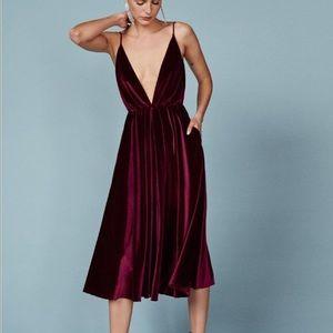 Reformation Burgundy Coppola Dress- med